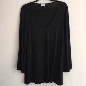 Flowy black mini dress